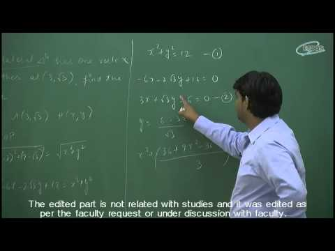 IIT JEE Main + Advanced | Maths | Complete coordinate Geometry | KM Sir from etoosindia.com