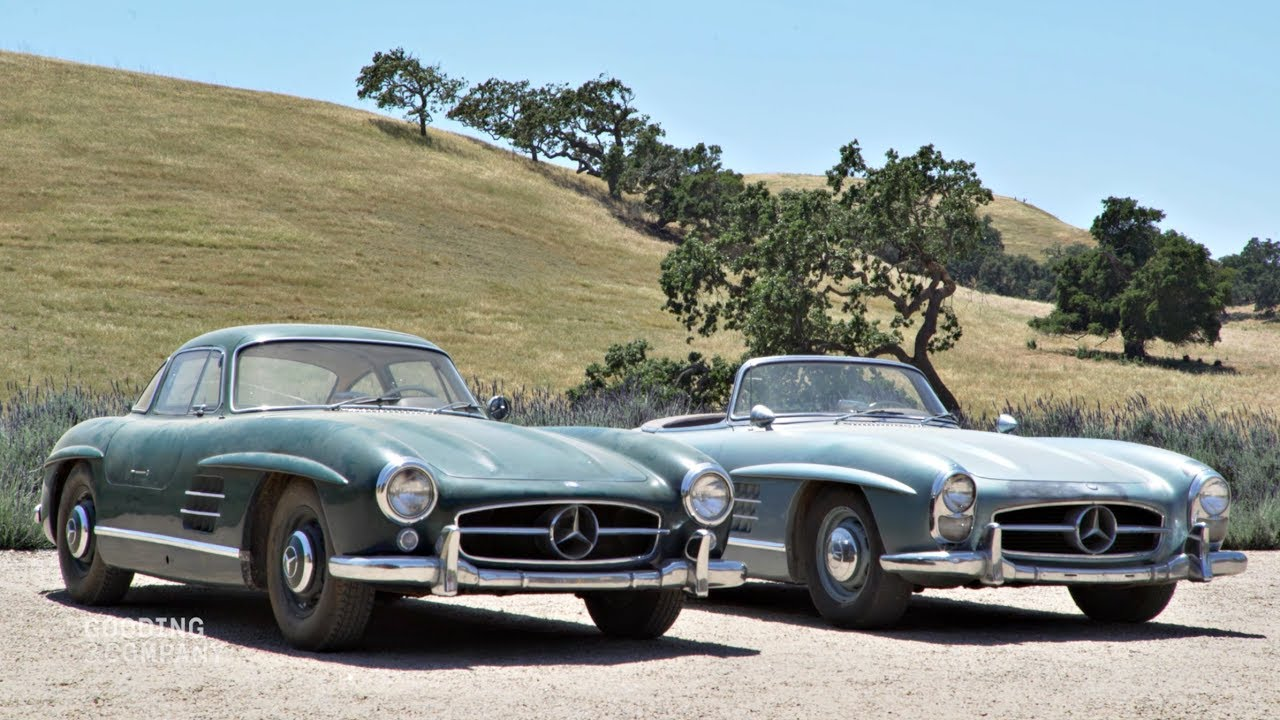revealed 1955 mercedes benz 300 sl gullwing 1957 mercedes benz 300 sl roadster youtube. Black Bedroom Furniture Sets. Home Design Ideas
