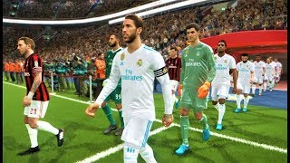 Real Madrid vs Milan | Full Match & All Goals 2018 | PES 2018 Gameplay HD