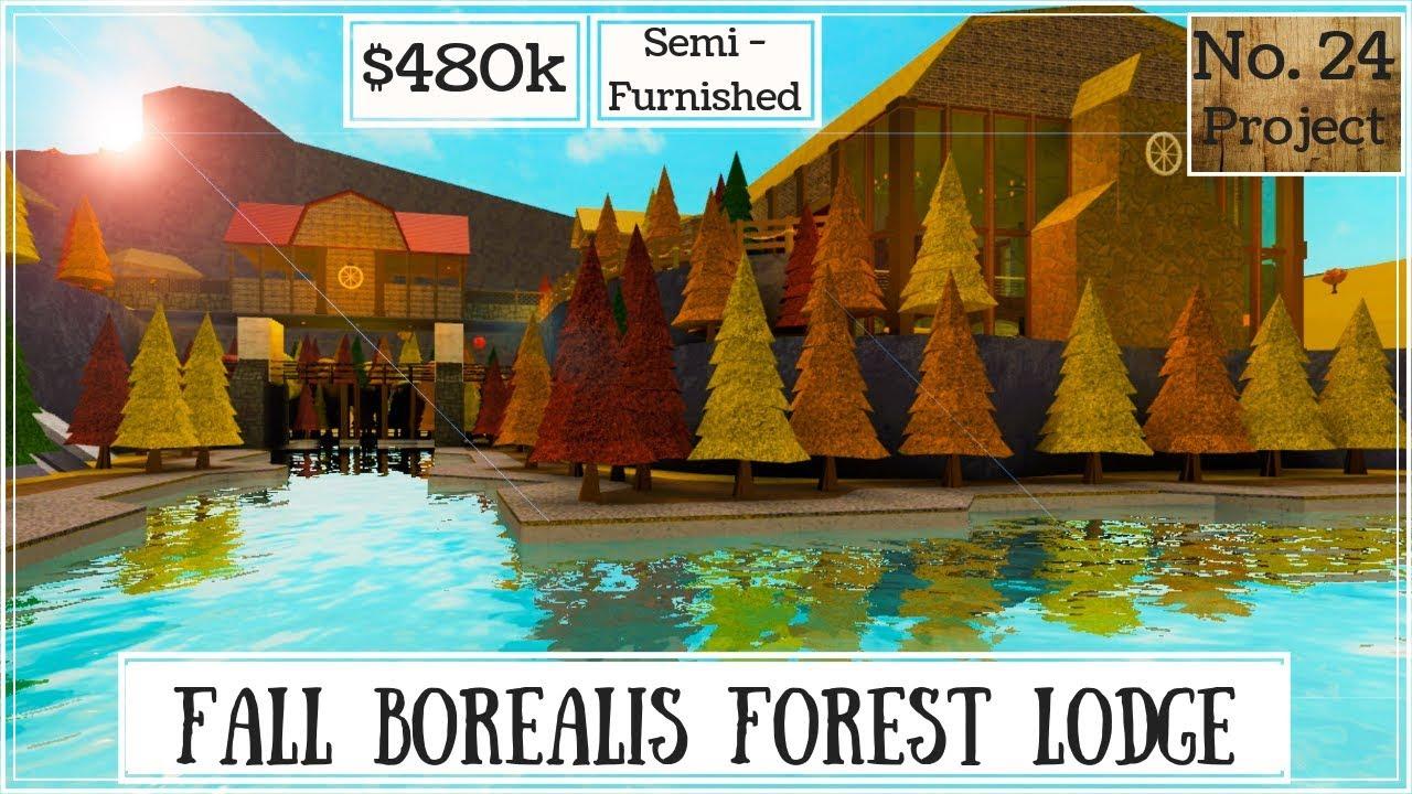 Roblox Bloxburg Fall Borealis Forest Lodge Speedbuild Youtube