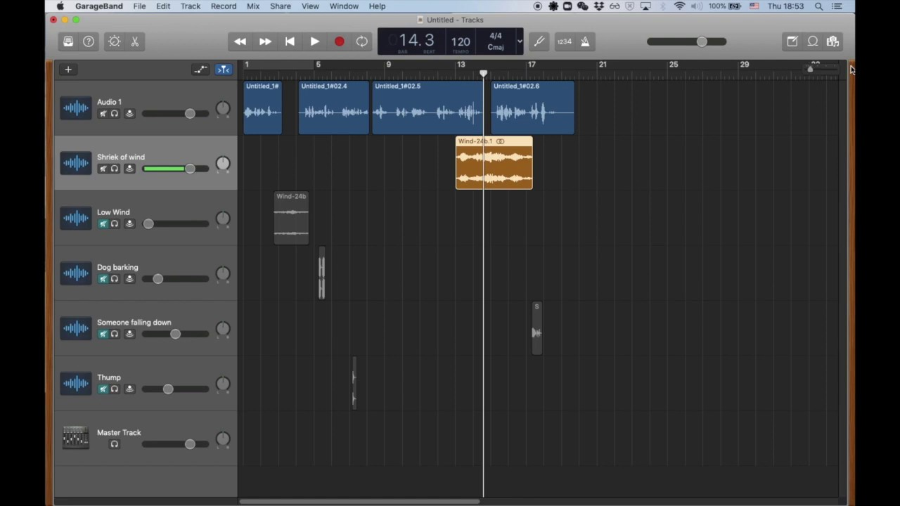 Garageband How to add sound effects to a story