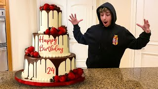 Surprising FaZe Rug with the WORLD'S BIGGEST BIRTHDAY CAKE!!