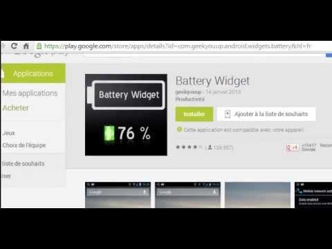 battery widget une application pour controler l 39 tat de la batterie de votre smartphone youtube. Black Bedroom Furniture Sets. Home Design Ideas