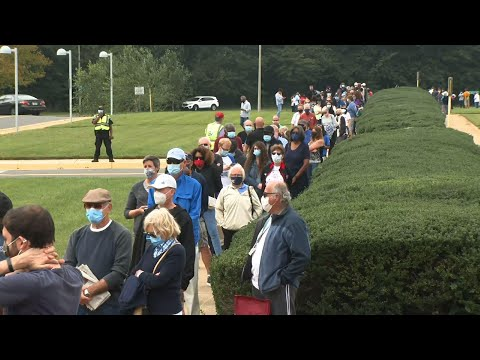 Long Lines In Virginia As Early Voting Begins