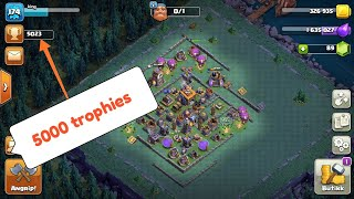 Best BH8 base to reach 5000 trophies easily.