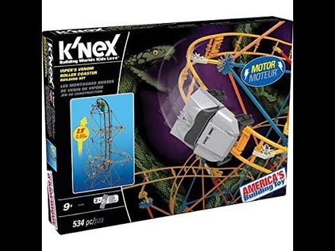 K'nex Viper's Venom Roller Coaster Unboxing and Review