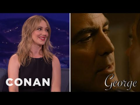 Conan Surprises Judy Greer With Her Kissing Reel   CONAN on TBS