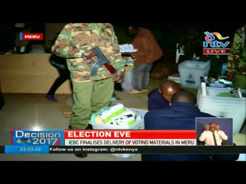 IEBC finalises delivery of voting materials in Meru