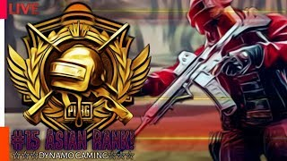 PUBG MOBILE LIVE | #15 RANKED PLAYER ASIA SERVER | CONQUEROR GAMEPLAY
