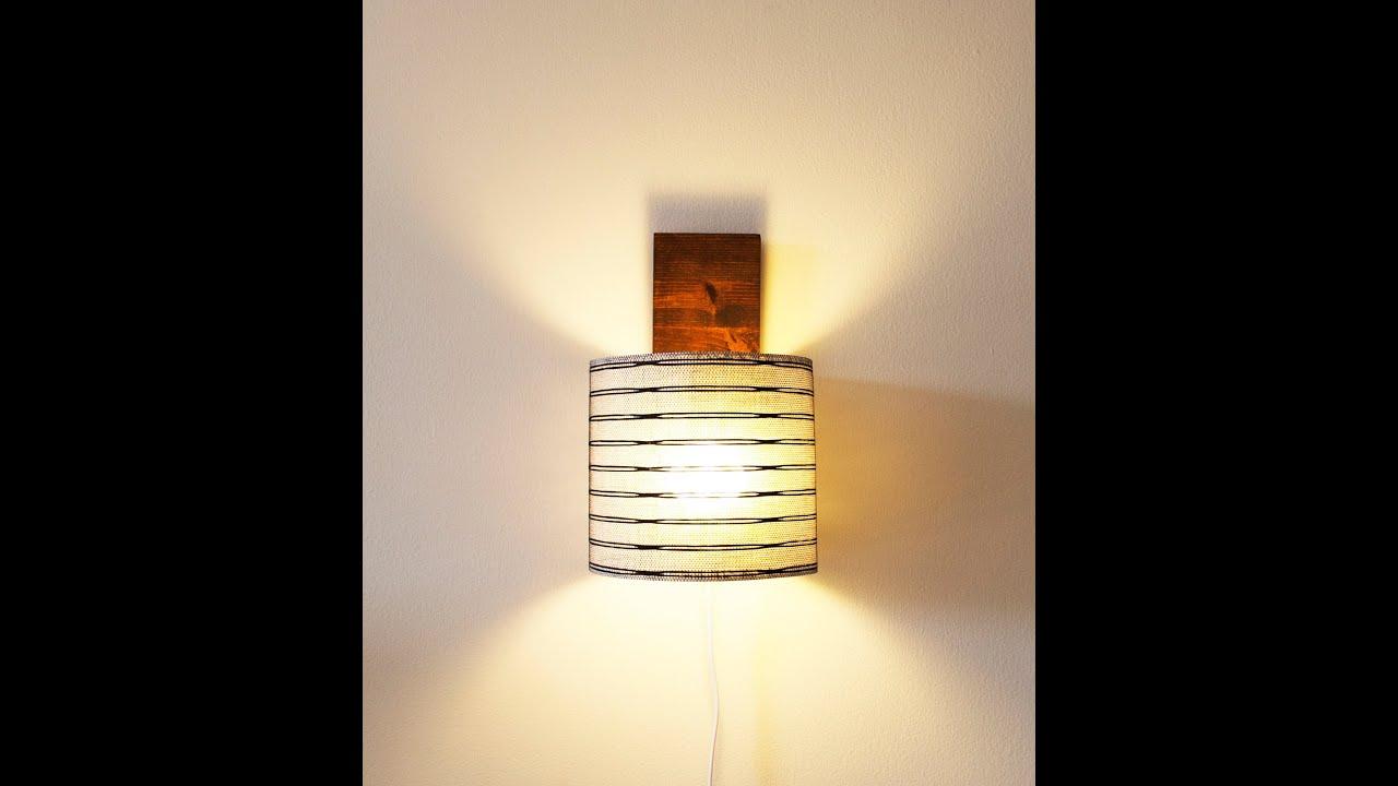 making wall mounted light / كيف تصنع إضائة جدارية - YouTube