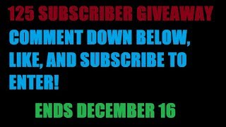 125 SUBSCRIBER GIVEAWAY - $10 GOOGLE PLAY GIFTCARD (COMMENT BELOW TO ENTER) ENDS DECEMBER 16TH