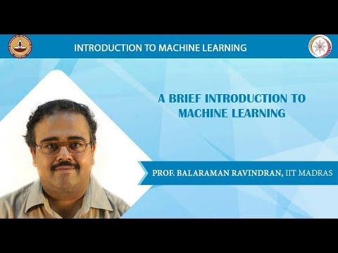Week 1 - Lecture 1 - Introduction to Machine Learning