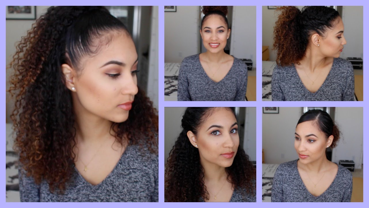 5 quick & easy curly hairstyles