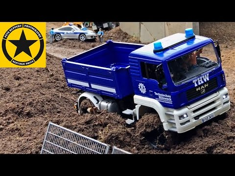BRUDER Toys TOW TRUCK✅ and Bruder THW MAN special edition Car Chase