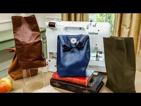 How To - Ken Wingard,s DIY Re-usable Leather Lunch Bag - Hallmark Channel
