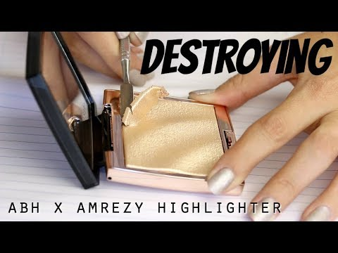 Destroying the ABH x Amrezy Highlighter - How much product do you lose when you re-press makeup?
