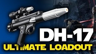 Star Wars Battlefront DH-17 Blaster Pistol Ultimate Loadout with Best Star Cards (SWBF Gameplay)