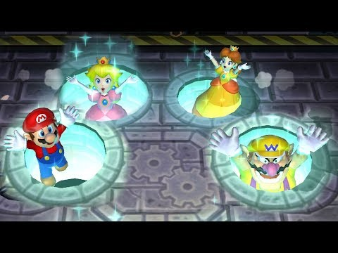 Mario Party 9 Garden Battle - Peach vs Daisy vs Wario vs Mario| Cartoons Mee