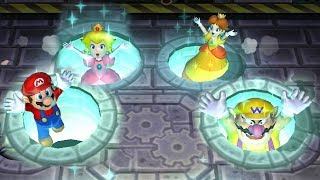 Mario Party 9 Garden Battle - Peach vs Daisy vs Wario vs Mar...