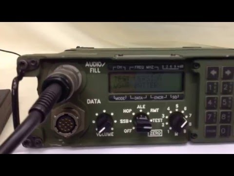 Harris PRC-138 HF Military Radio / Manpack (For Sale) UK - YouTube