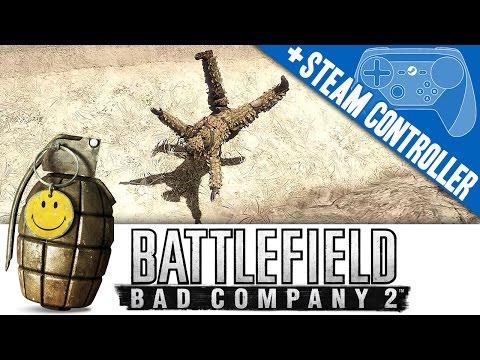BFBC2 + Steam Controller Gameplay PC Battlefield Bad Company 2