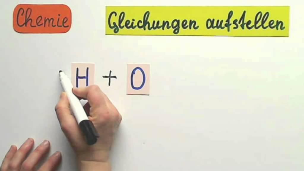 Gleichungen aufstellen in Chemie - YouTube