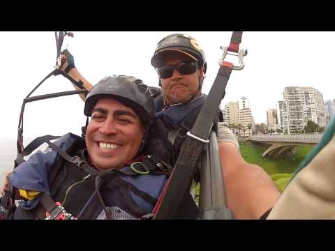 Paragliding in Lima, Peru  (Miraflores District)
