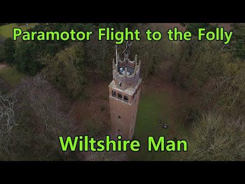 Paramotor flights and visit to the Faringdon Folly | Parajet Maverick DJI P4