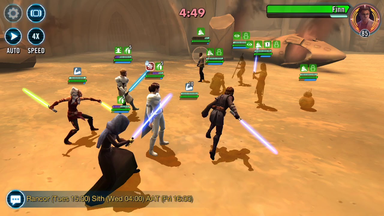 Swgoh: TW With Padme And Galactic Republic - 1 Zeta On Padme Lead - Vs JTR  team