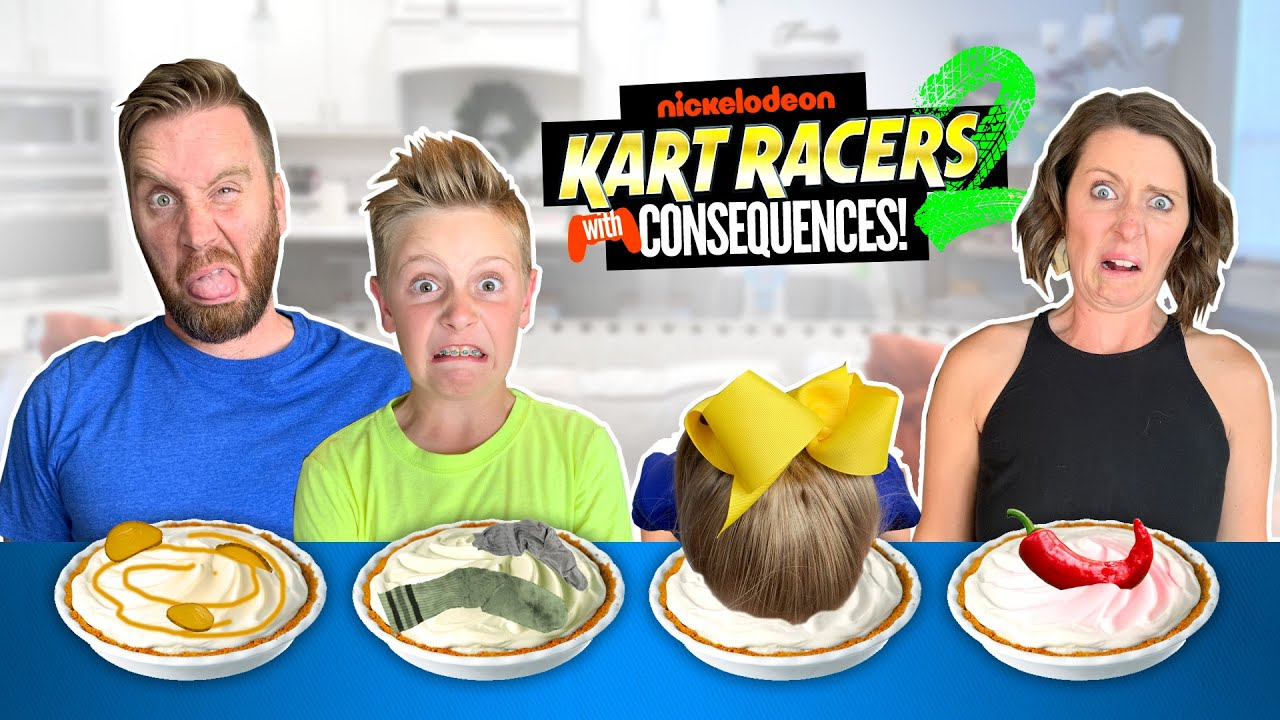 Pie Face Gaming With Consequences! (Nickelodeon Kart Racers 2: Grand Prix!) K-City Family