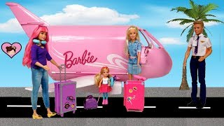 Barbie & Chelsea Airplane Travel Trouble! Barbie Dreamhouse Adventures Toys