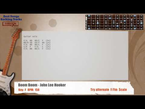 Boom Boom - John Lee Hooker Guitar Backing Track with chords and lyrics