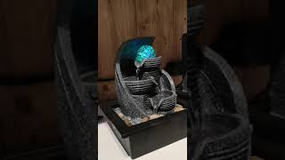 Video: Fontanna led z kulą szara 17x20,5x25,5cm