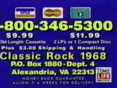 Classic Rock 1968 music collection commercial  1990