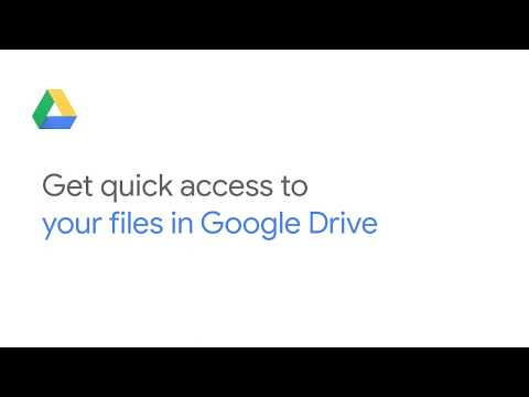 Get quick access to your files in Google Drive