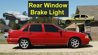 HML High Mount Brake Light Bulb Replacement In The Volvo 850, S70, S40, Etc. - VOTD