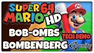 Super Mario 64 HD - Bob Ombs Bombenberg - 100 Münzen gesammelt - Unity Tech Demo