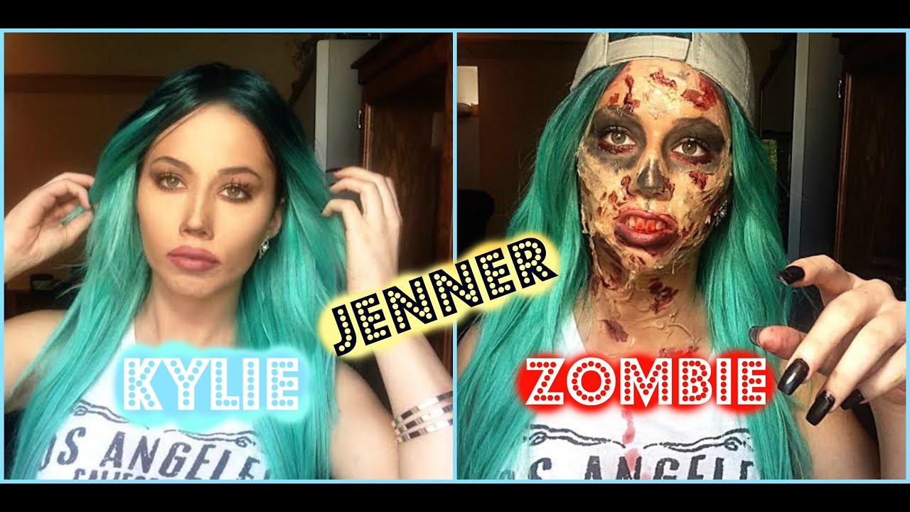 Be Kylie Jenner for the day! Kylie zombie makeup- gelatin ...