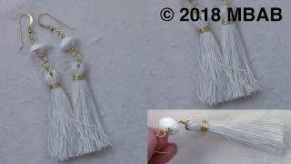 Tassel Earrings Handmade by Mariel