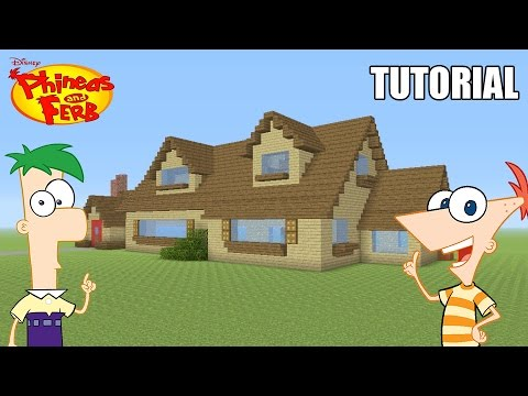 "Minecraft Tutorial: How To Make ""Phineas and Ferb's"" House! ""Phineas and Ferb"" (Survival House)"