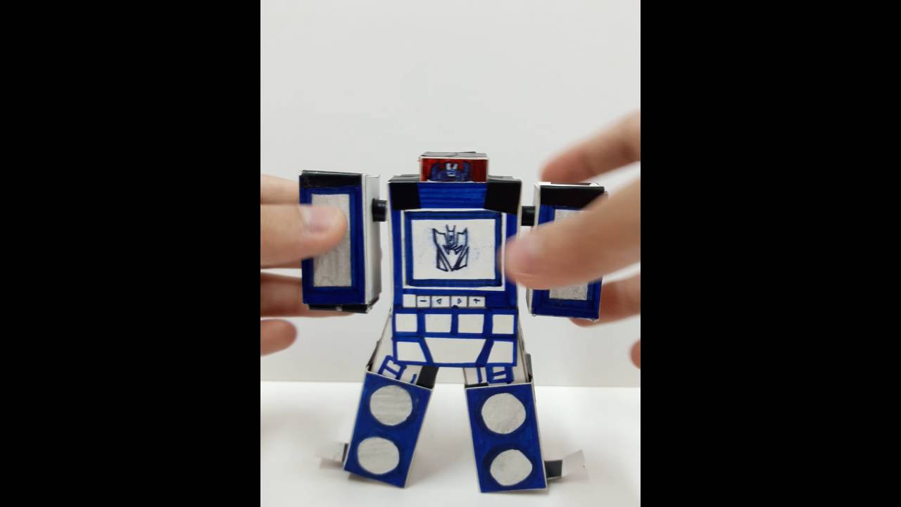 how to make origami robot transformer