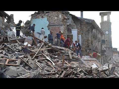 Italy quake: Drone footage shows scale of damage in Amatrice