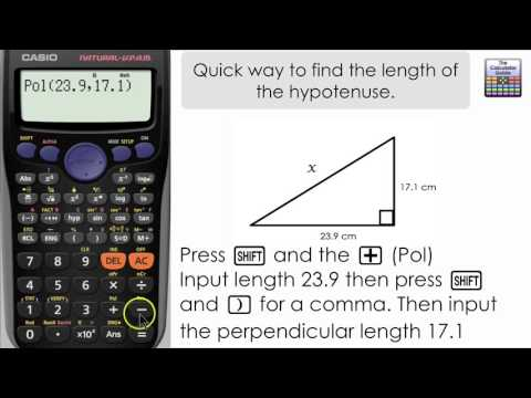 Quick Way Of Finding The Length Of The Hypotenuse (Casio Calculator, Fx-83GT PLUS, Fx-85GT PLUS)