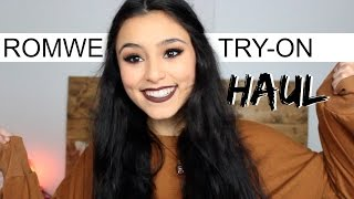 ROMWE Try-On Haul!