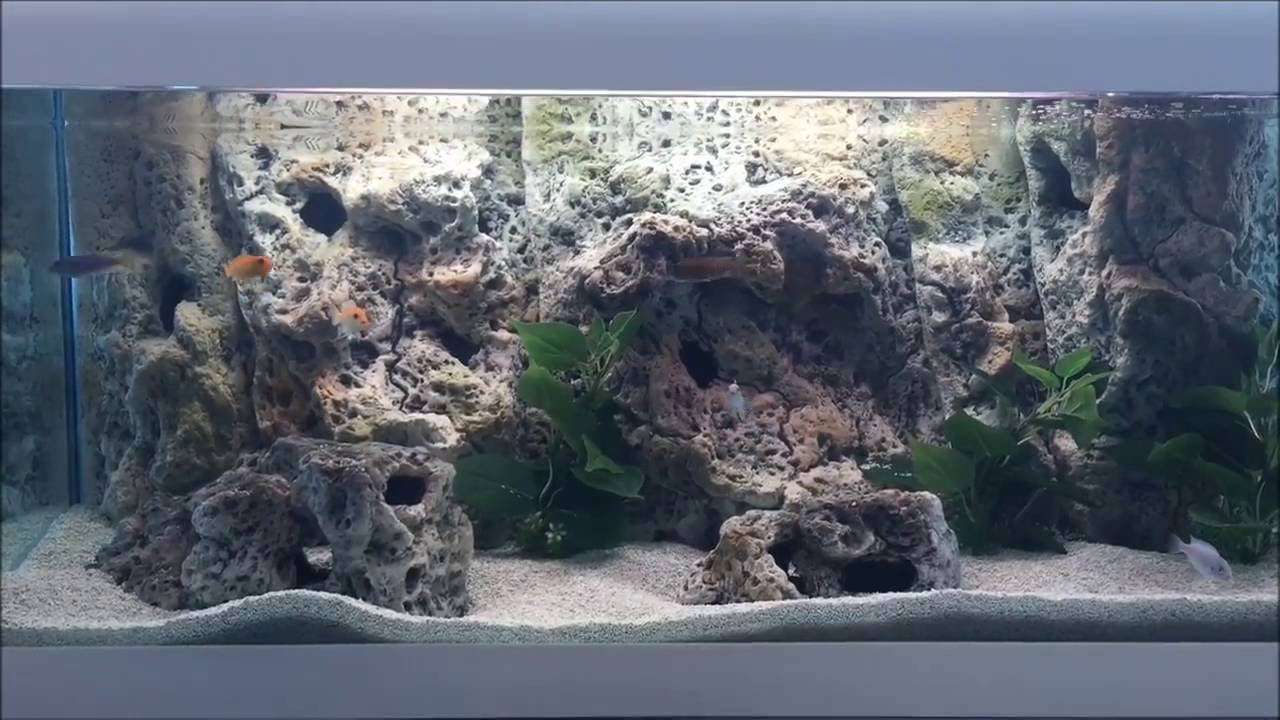 How To Install Aquarium Background Limestone Modules New
