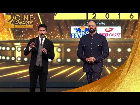 Zee Cine Awards 2016 Shahid kapoor & Rohit shetty's comic act on stage
