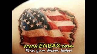 Patriotic American Flag Tattoos