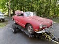 1970 Volkswagen Karmann Ghia Convertible Restoration: VW : Part 1