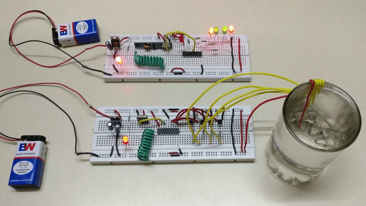 Wireless Water Level Indicator Without Microcontroller - YouTube