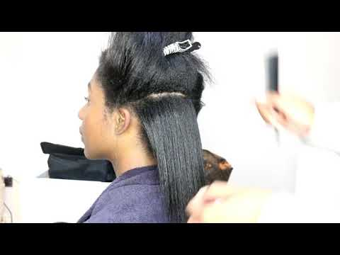 How to do a Salon sleek Silk Press || London Hair stylist || Florence Immaculate